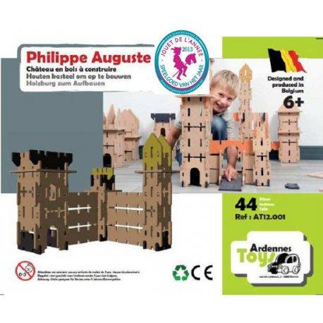 Philippe Auguste: château en bois Ardennes Toys, 44 pièces