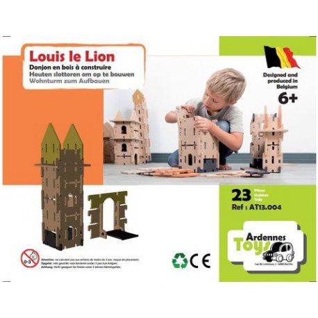 Jouet en bois Louis le Lion: Tour et pont Levis Ardennes Toys, 23 pièces