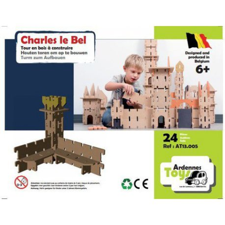 charles le bel jouet en bois constuire modulable tour en bois ardennes toys 24 pi ces. Black Bedroom Furniture Sets. Home Design Ideas
