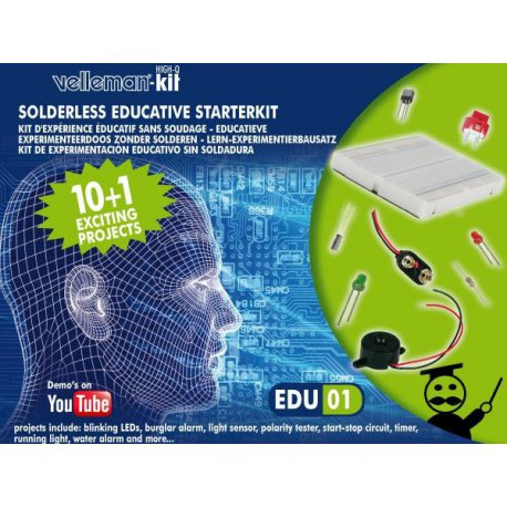 Edukit EDU01: kit d'initiation électronique éducatif sans soudure