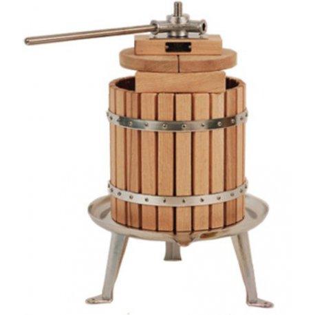 Presse à fruits ou légumes, bois de chêne et inox 12L
