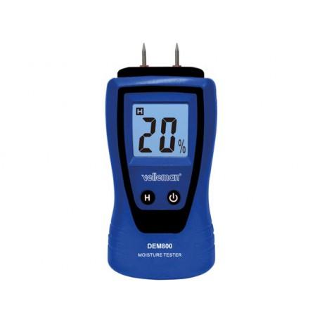 Humidimètre DEM800 à contact pour mesure d'humidité des matériaux, isolation et bois