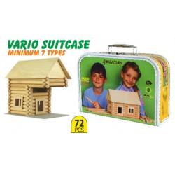 Jouet de construction en bois Walachia Vario Valise 72 pièces