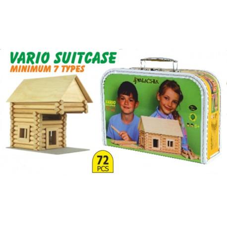 Walachia Vario Valise 72 pièces: jeu de construction bois