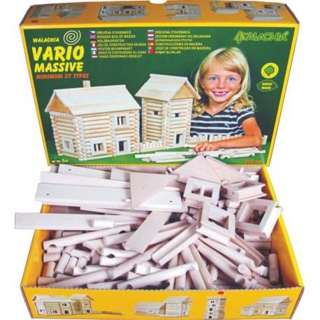 Walachia Vario Massive 209 pièces: jeu de construction bois