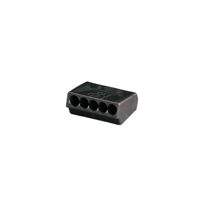 connecteur d 39 lectricien wago 5 fils 1 2 5 mm2 lot de 10. Black Bedroom Furniture Sets. Home Design Ideas