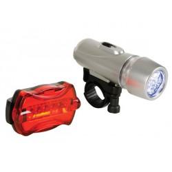 Kit lampe de vélo 5 leds 6 modes de clignotement AV et AR