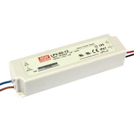 Alimentation LED stabilisée 12V CC à découpage 60W