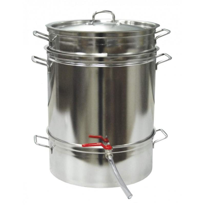 Extracteur de jus de fruit vapeur tout inox jumbo 24l - Extracteur de jus vapeur ...