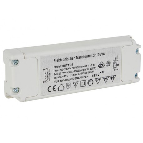 Transformateur électronique 105VA CA 12V 230V