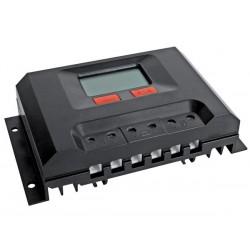 Régulateur solaire 300W de tension pour batterie 12V - 30A - 12V - Ecran LCD