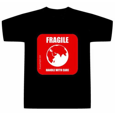 T-Shirt Fragile Handle With Care - Grand logo