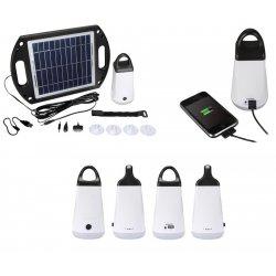 Station solaire autonome LED 3W avec sortie USB