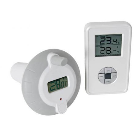 Thermomètre flottant électronique sans fil pour piscine, bassin, jaccuzi, étang...