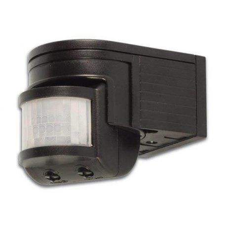 Détecteur de mouvements PIR Orientable Jour/nuit IP44 - Noir