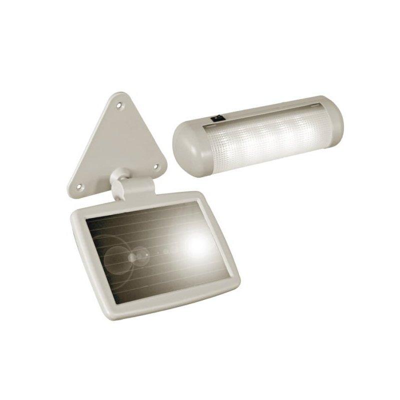 Kit d 39 clairage solaire autonome pour le jardin ou le camping for Eclairage jardin autonome