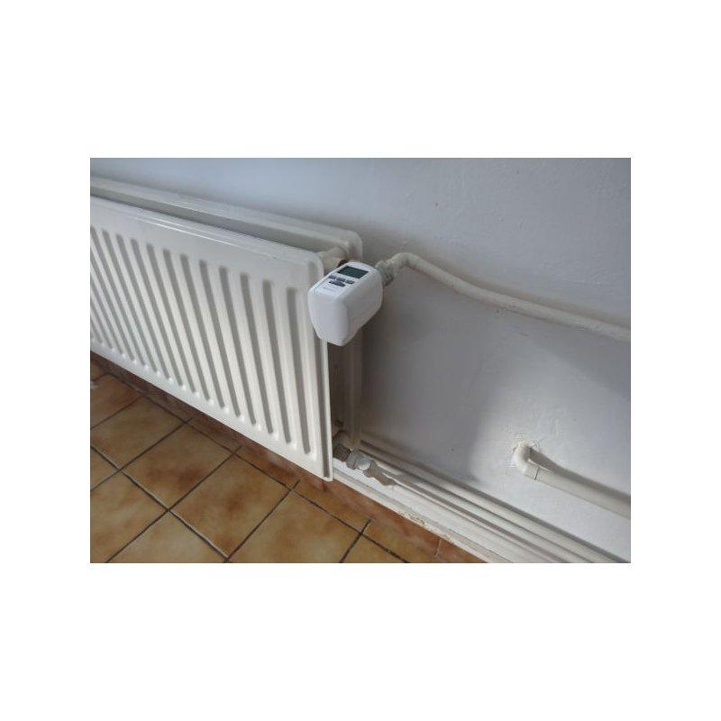 Vanne thermostatique lectronique programmable usb chacon - Robinet thermostatique radiateur programmable ...