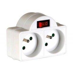 Multiprise doublette avec interrupteur