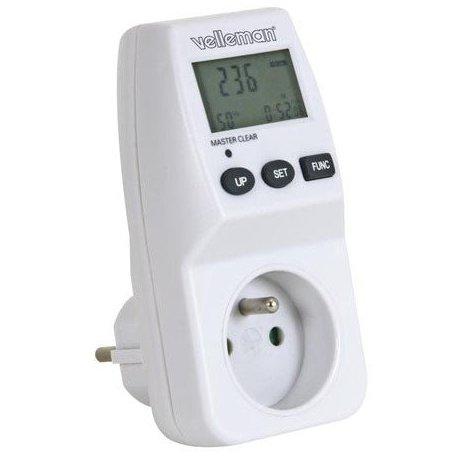 Prise wattmètre consomètre avec compteur de consommation électrique