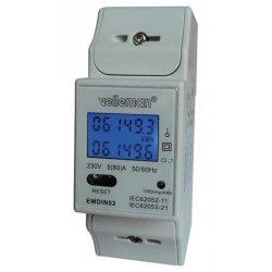 Compteur électrique à impulsion LCD DIN monophasé