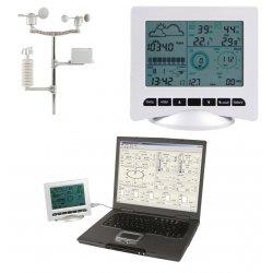 Station météo solaire à enregistrement et interface PC
