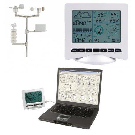Station météo solaire à enregistrement et interface PC ws3080