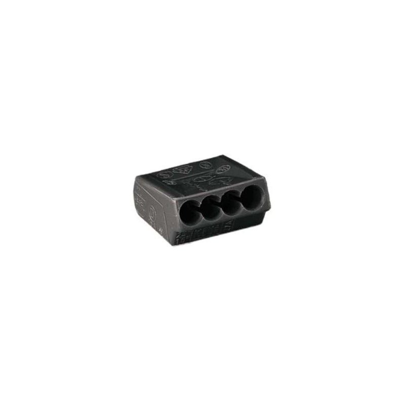 connecteur wago 4 fils 1 2 5 mm2 lot de 10. Black Bedroom Furniture Sets. Home Design Ideas