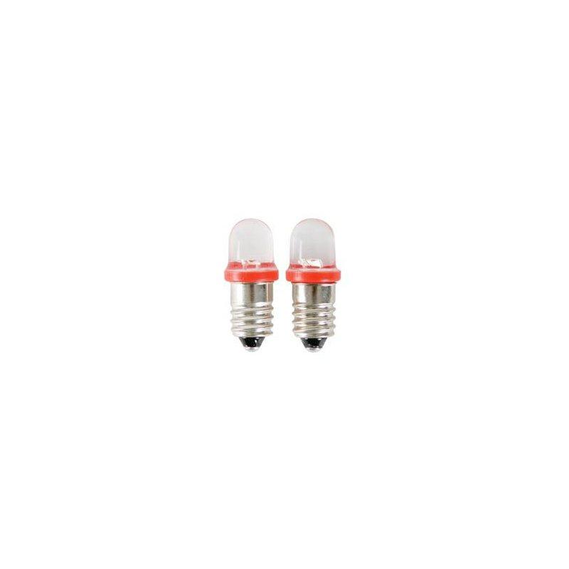 Lot de 2 ampoules led e10 rouge 12v pour auto moto - Ampoule led rouge ...