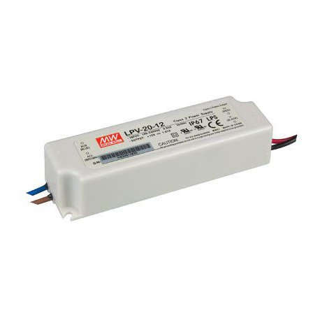 Alimentation 12V CC IP67 20W à tension constante LPV-20-12