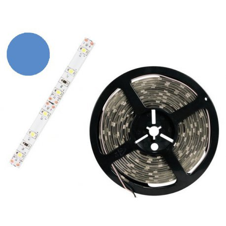 Ruban flexible bleu 300 LED 5m découpable blanc chaud IP61 LB12M130WW