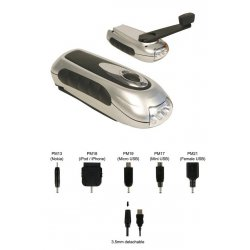Lampe torche à manivelle - sortie micro USB