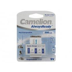 Accu 9V NiMh pile rechargeable 200 mAh Camelion Alwaysready