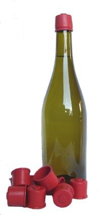 bouchon capuchon souple pour conservation en bouteille 1L ou plus