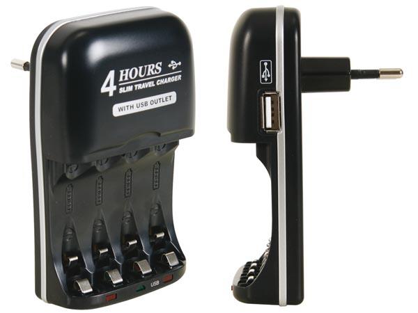 chargeur de piles USB rapide