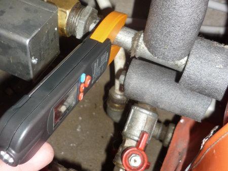 thermomètre de contact tuyaux acier galva