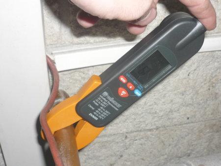 thermomètre de contact tuyau cuivre
