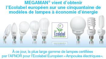 ampoules megaman ecolabel afnor