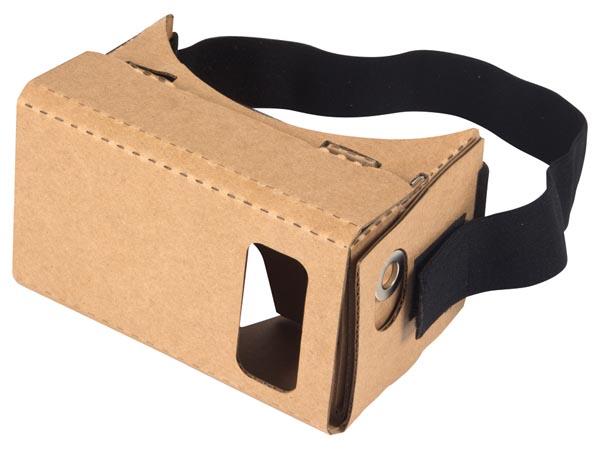 Google Cardboard monté, vue de face
