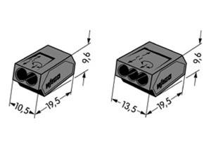 connecteurs wago 2 et 3 fils